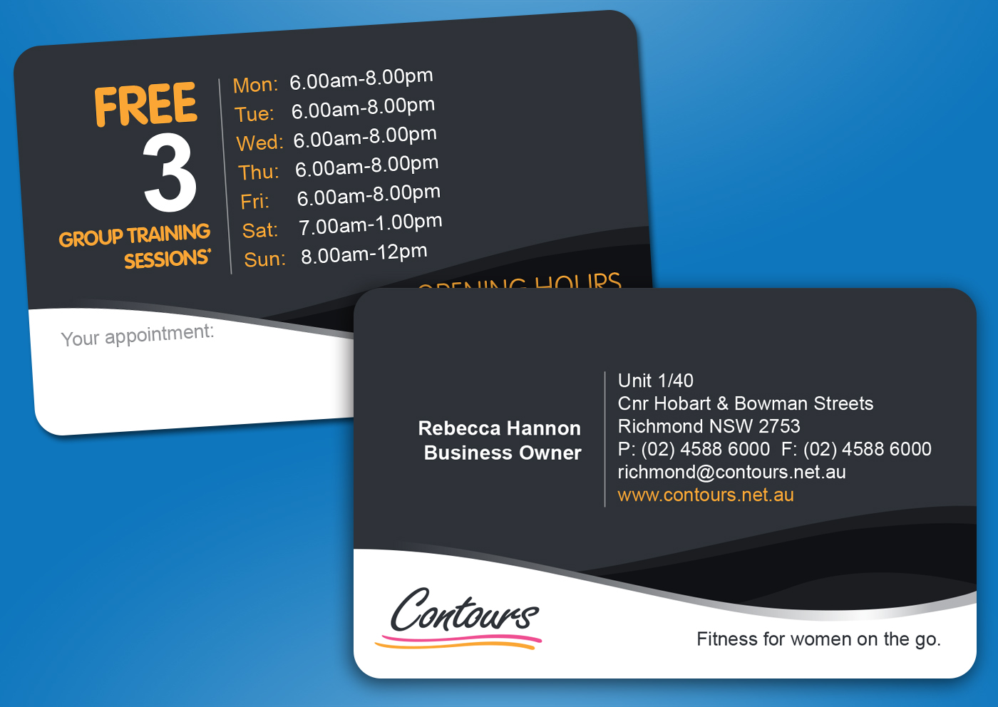 Small business marketing company contours business card design reheart Gallery